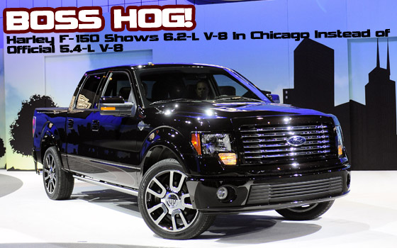 Harley-Davidson F-150 Shows 6.2-liter Boss V-8 Instead of Official 5.4-liter V-8