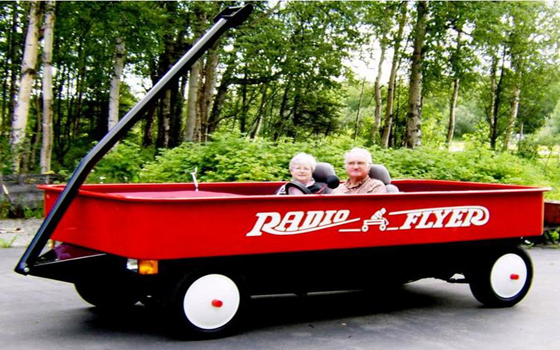 Custom-made Radio Flyer Car