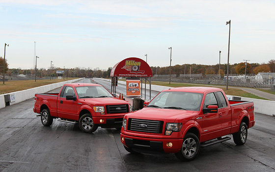 Testing the 2011 Ford F-150's V-6 Engines in the Quarter-Mile